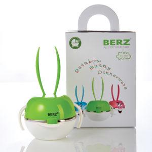 เบิรซ์ Bunny ชุดทานอาหารสแตนเลส สีเขียว Berz Dinnerware