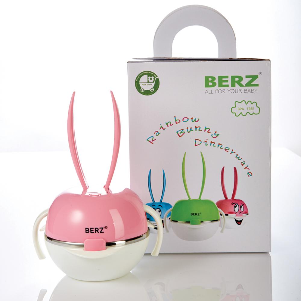 เบิรซ์ Bunny ชุดทานอาหารสแตนเลส สีชมพู Berz Dinnerware