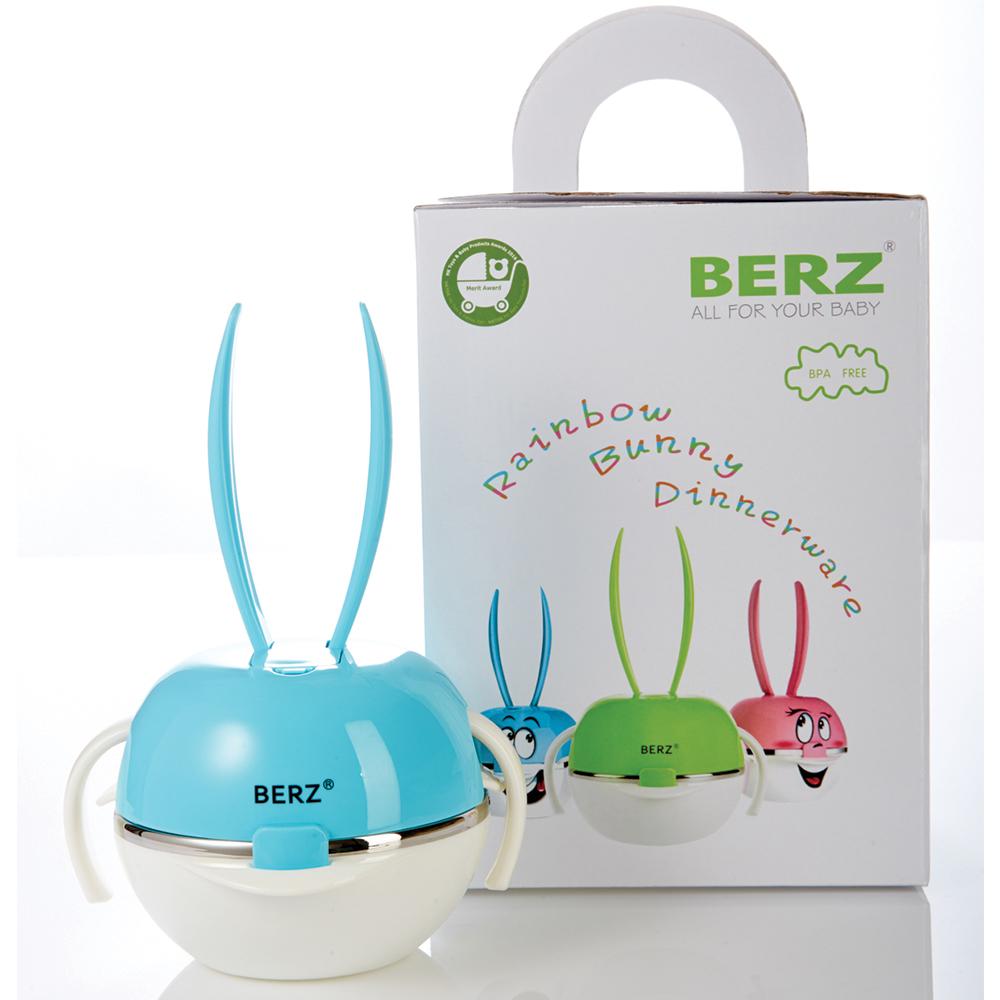 เบิรซ์ Bunny ชุดทานอาหารสแตนเลส สีฟ้า Berz Dinnerware