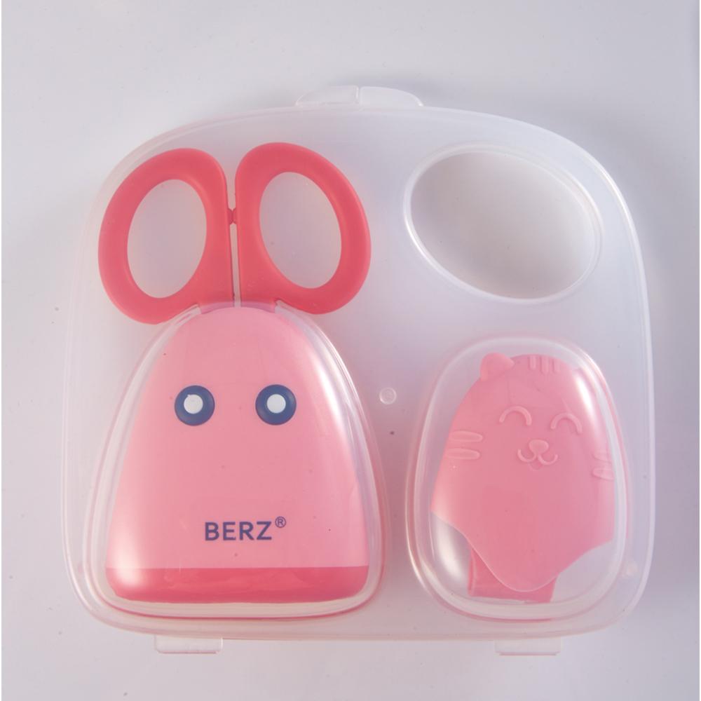 กรรไกรตัดอาหาร สแตนเลสแท้ เบิร์ซ – Berz Baby Food Scissor(สีชมพู)