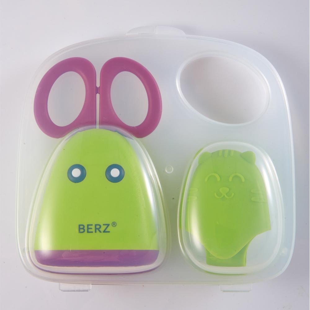 กรรไกรตัดอาหาร สแตนเลสแท้ เบิร์ซ – Berz Baby Food Scissor(สีเขียว)