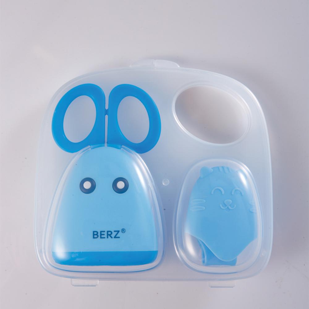 กรรไกรตัดอาหาร สแตนเลสแท้ เบิร์ซ – Berz Baby Food Scissor(สีน้ำเงิน)