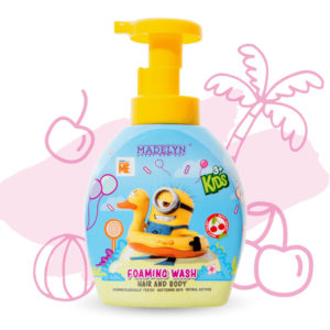 Minions Head To Toe Foaming Wash (กลิ่น Happy Cherry 350 ml.) 1 แถม 1