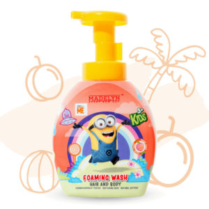 Minions Head To Toe Foaming Wash (กลิ่น Freshy Peach 350 ml.) 1 แถม 1