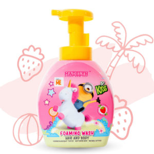 Minions Head To Toe Foaming Wash (กลิ่น Lovely Strawberry 350 ml.) 1 แถม 1