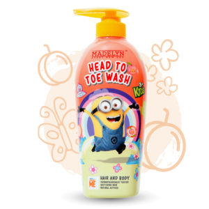 Minions Head To Toe (กลิ่น Freshy Peach 500 ml.) 1 แถม 1